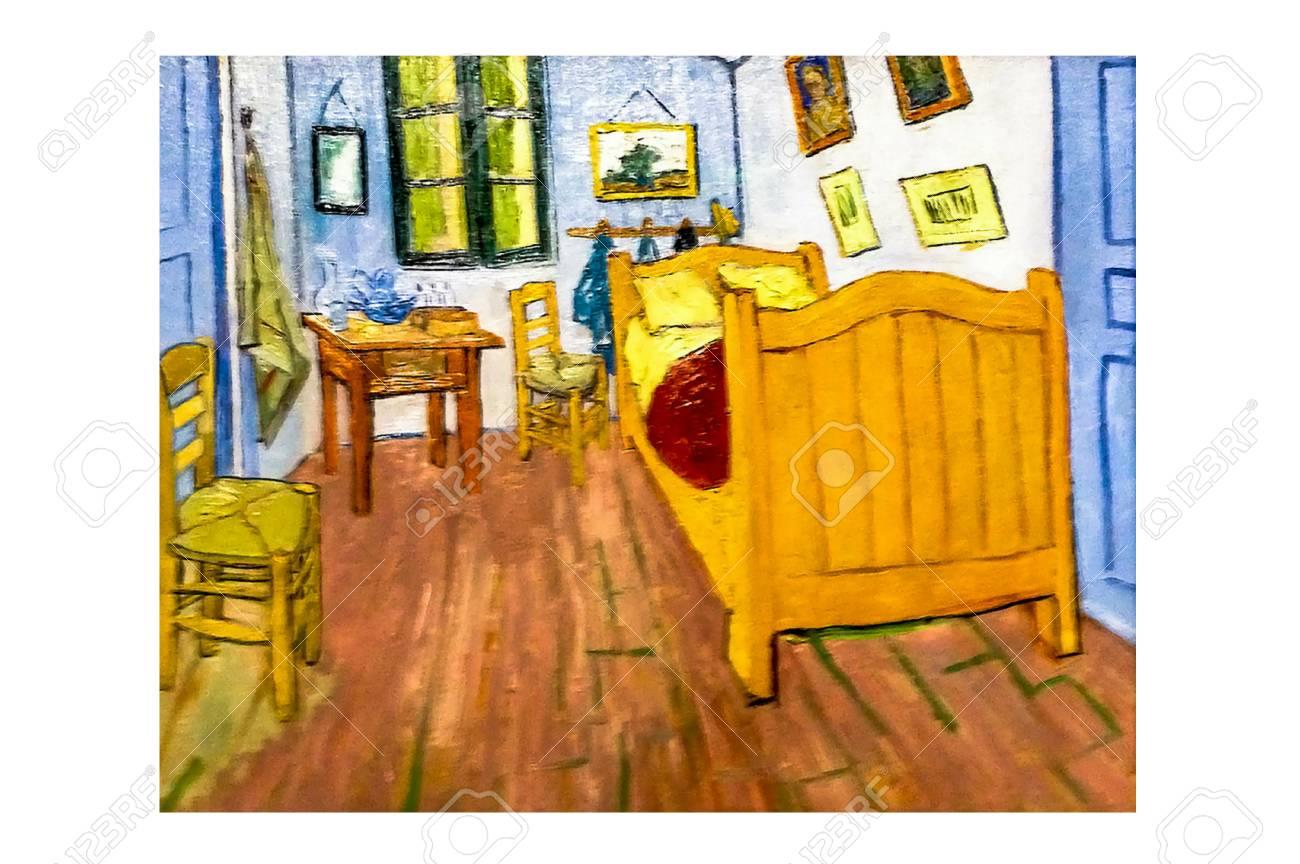 Van Gogh The Bedroom Painting | Amsterdam Netherlands August 10 2016 Bedroom In Arles