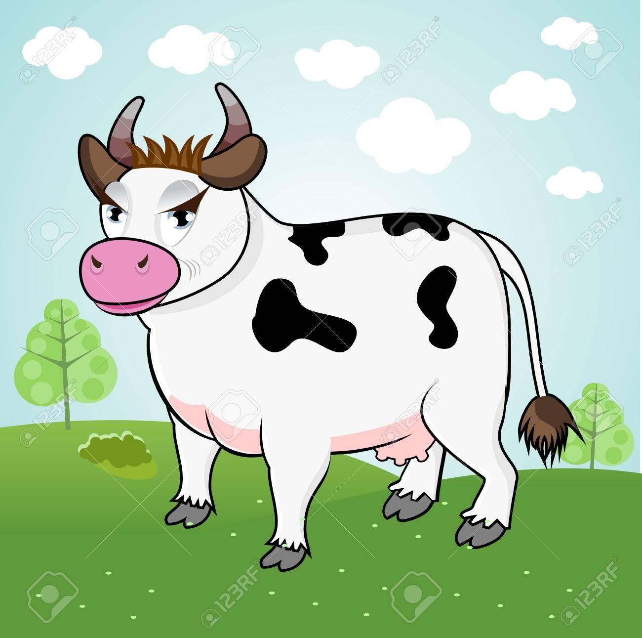 Funny Cow Cartoon