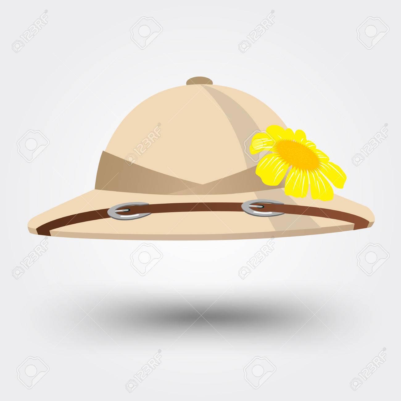 Foto de archivo - Ilustración vectorial de sombrero sombrero de explorador  para el safari aislados sobre fondo blanco f61dbc350f0
