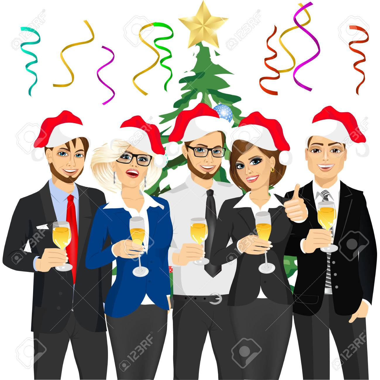 1,511 Office Christmas Party Stock Illustrations, Cliparts And ...