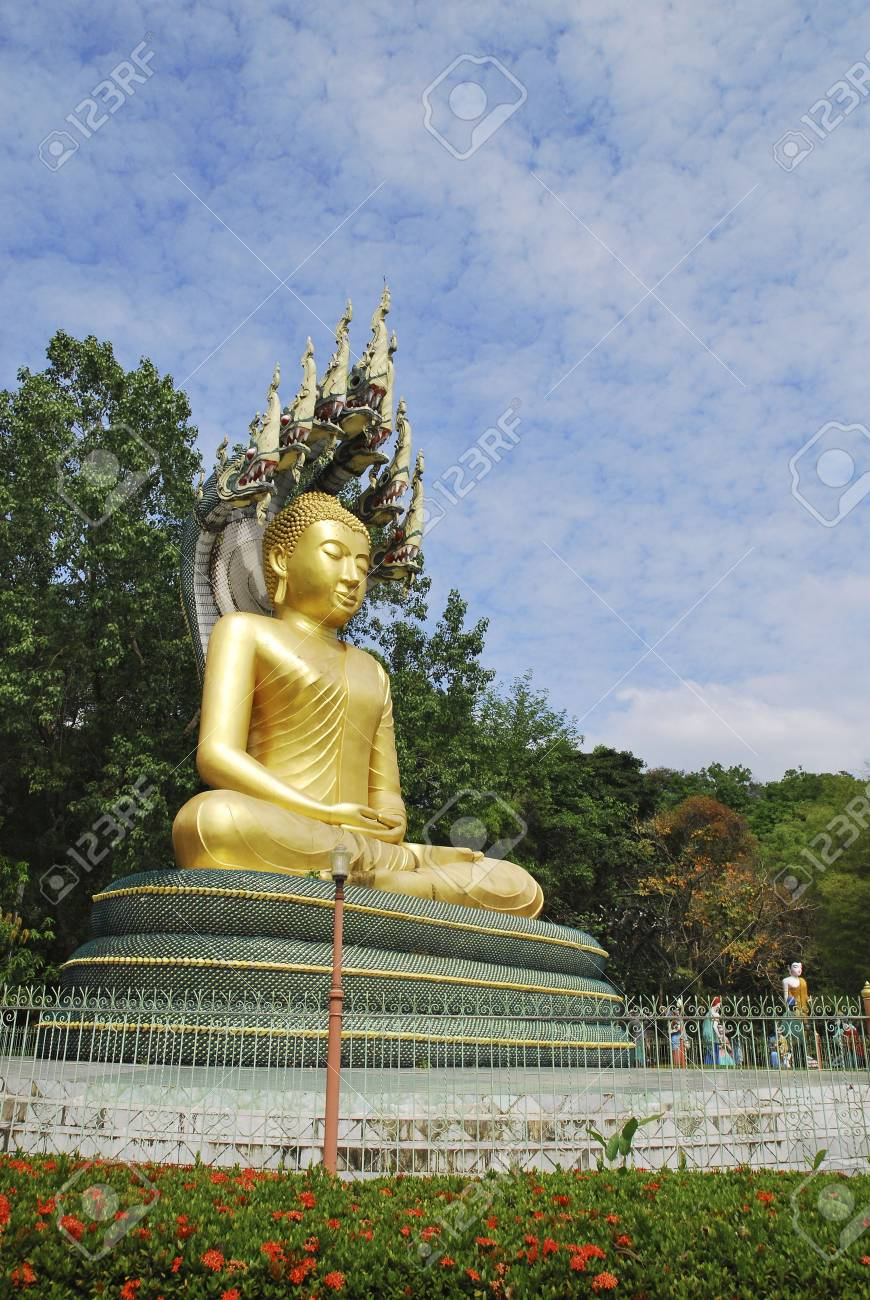Buddha with Nagas in Thailand Stock Photo - 6776199