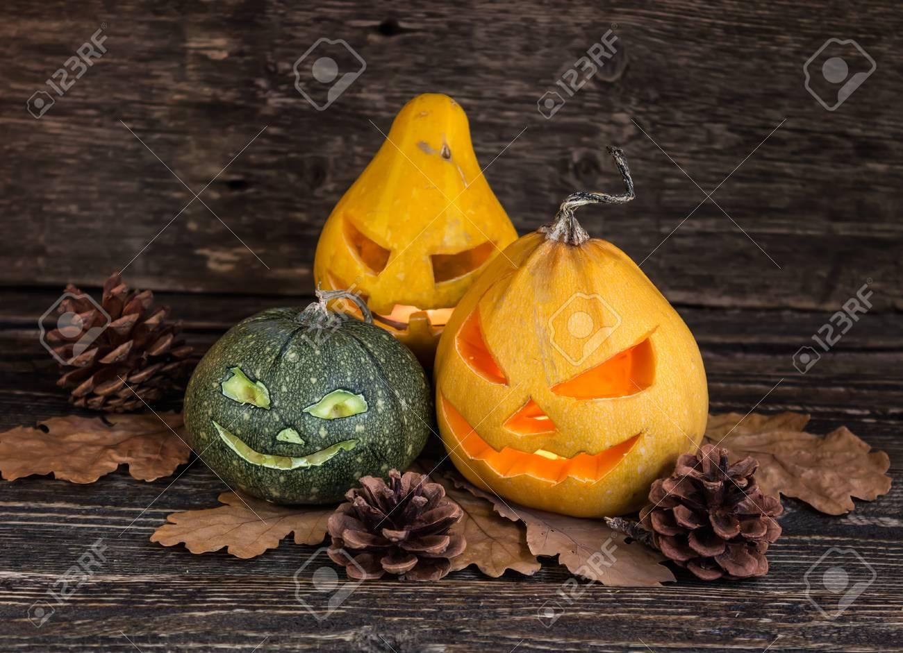 Halloween Kurbis Laterne Dekoration Postkarte Lizenzfreie Fotos Bilder Und Stock Fotografie Image 65304720