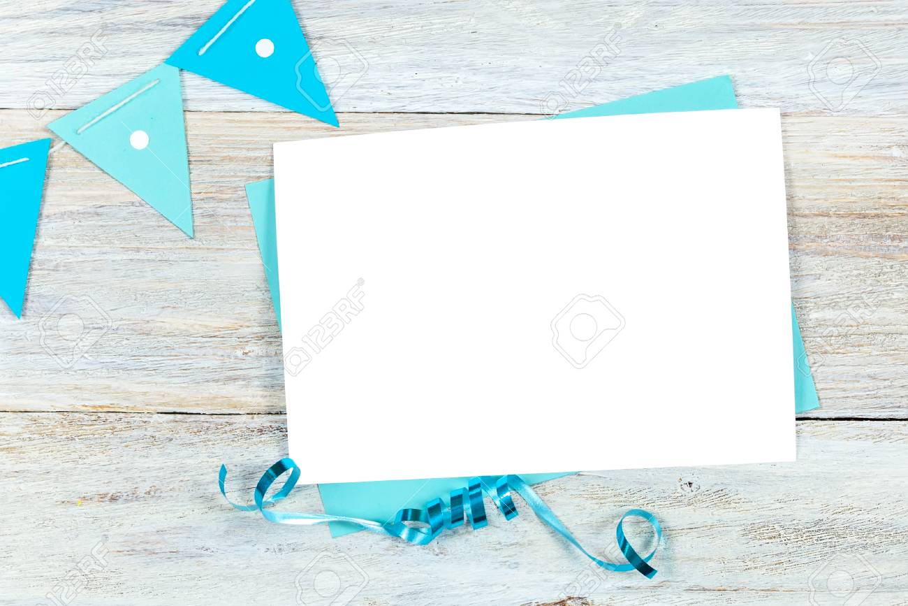 Greeting Card Mockup Birthday Or Party Invitation Blank Styled Photography Template