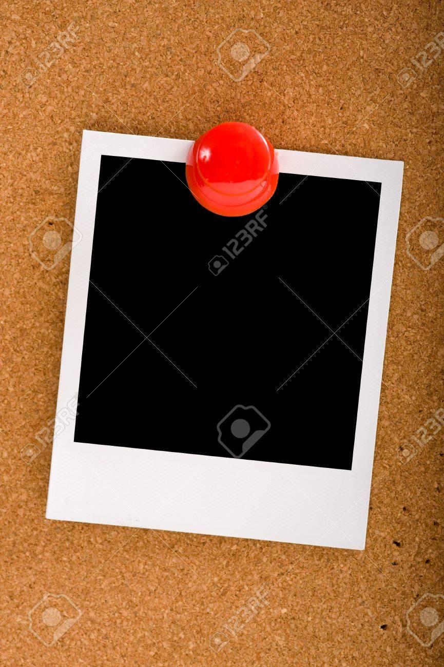 Instant-Übertragung Bild Oder Foto Auf Einem Kork-Board-oder Brett ...