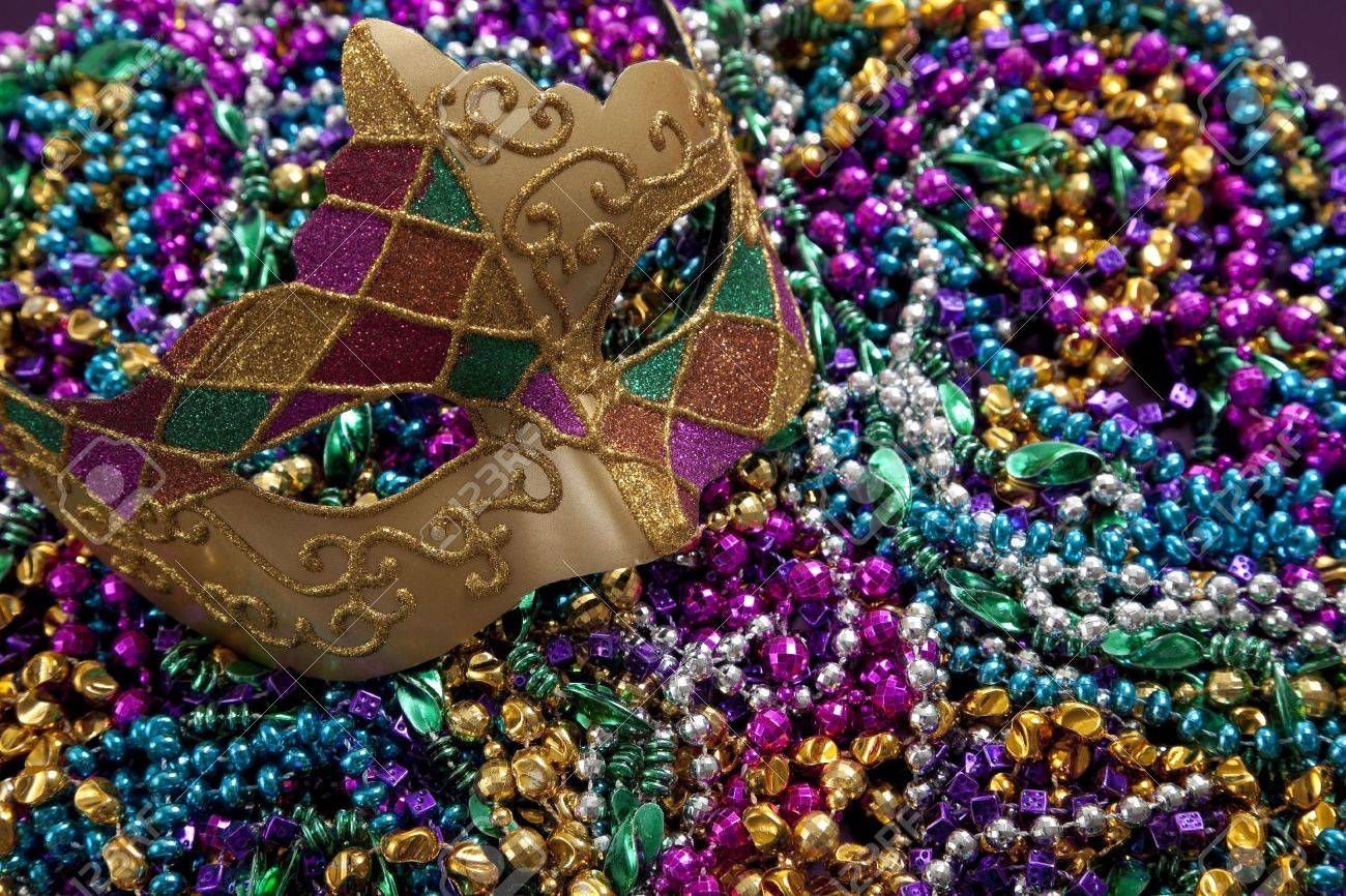 mardi carnival mask beads background stock depositphotos photo gras and