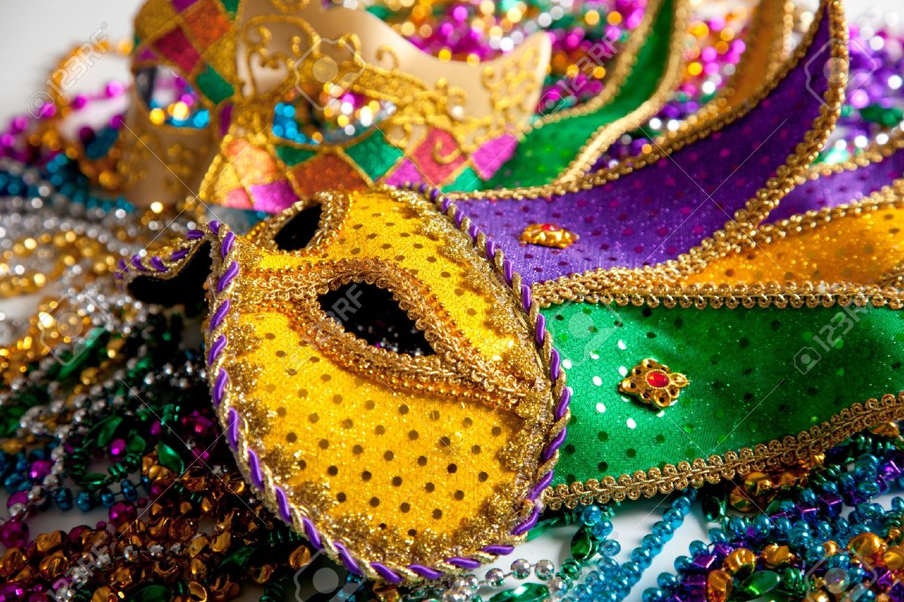 party mardi vector masquerade theme carnival background beads stock in gras image masks a and