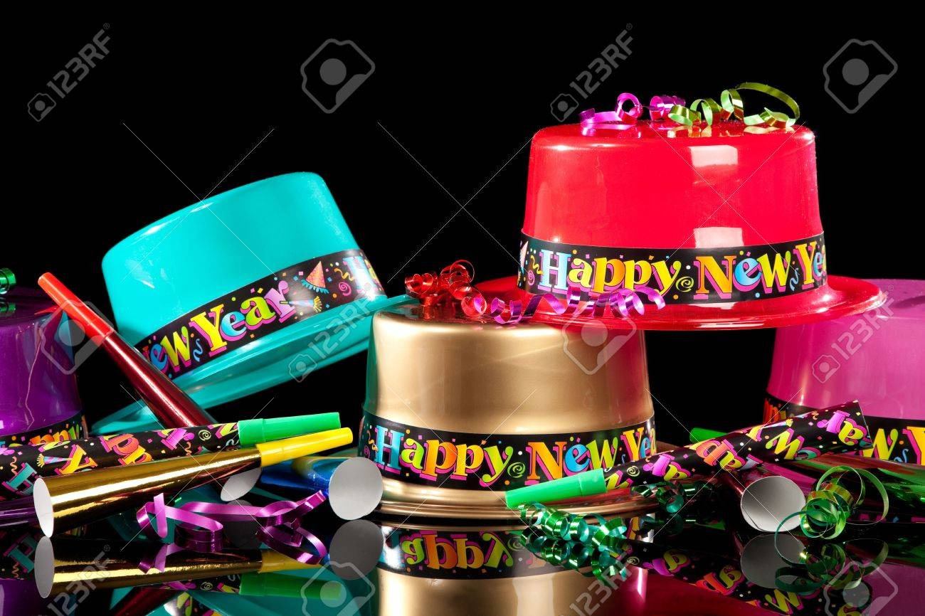 Colorful Party Hat Colorful New Years' Eve Party