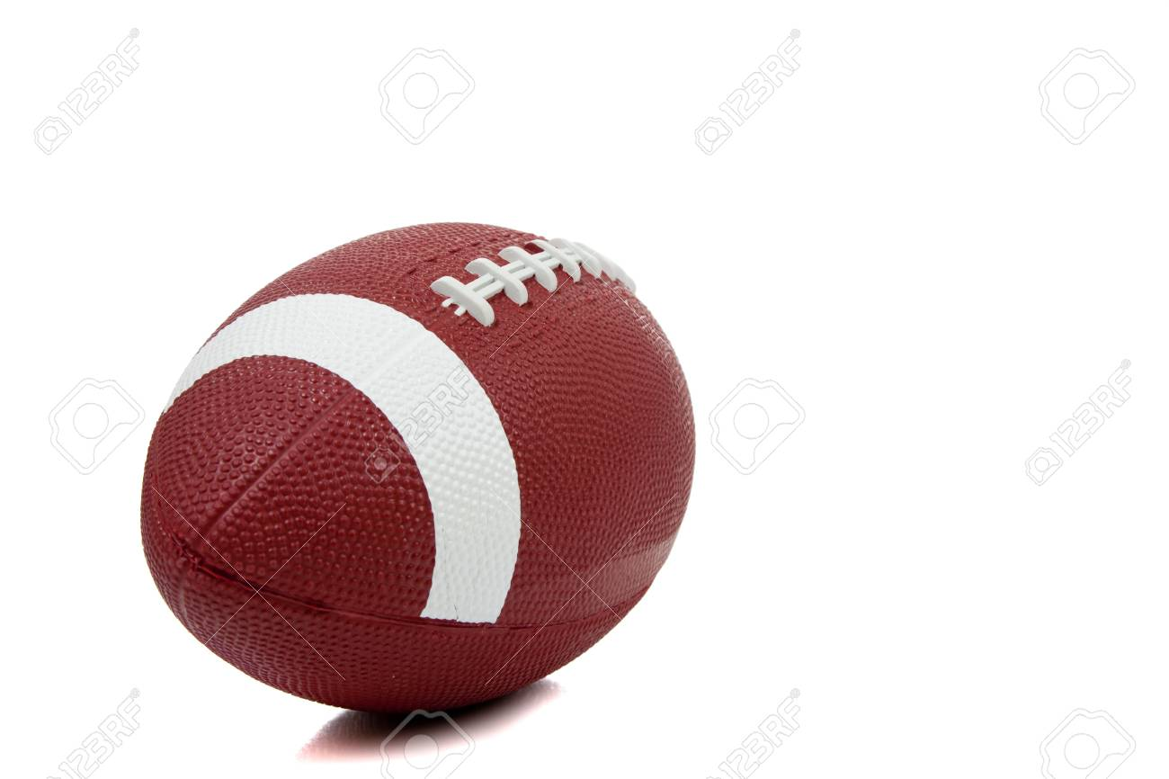An american football on a white background Stock Photo - 5635772