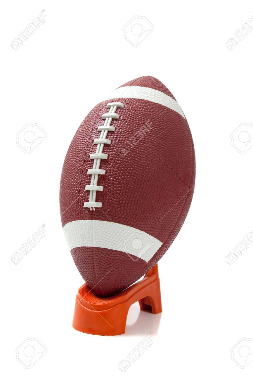 An American Football On A Kicking Tee Stock Photo Picture And Royalty Free Image Image 5676623