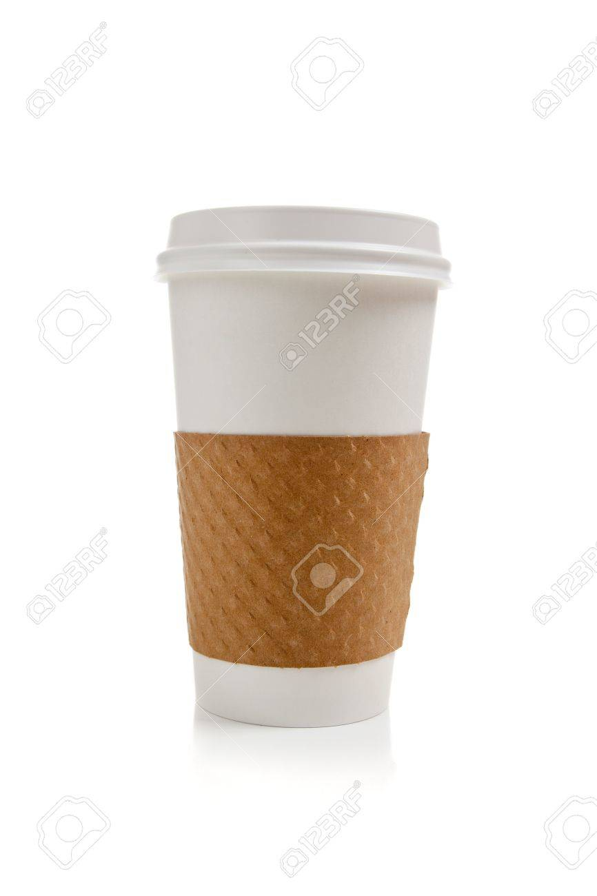 A disposable coffee cup on a white background Stock Photo - 5739414