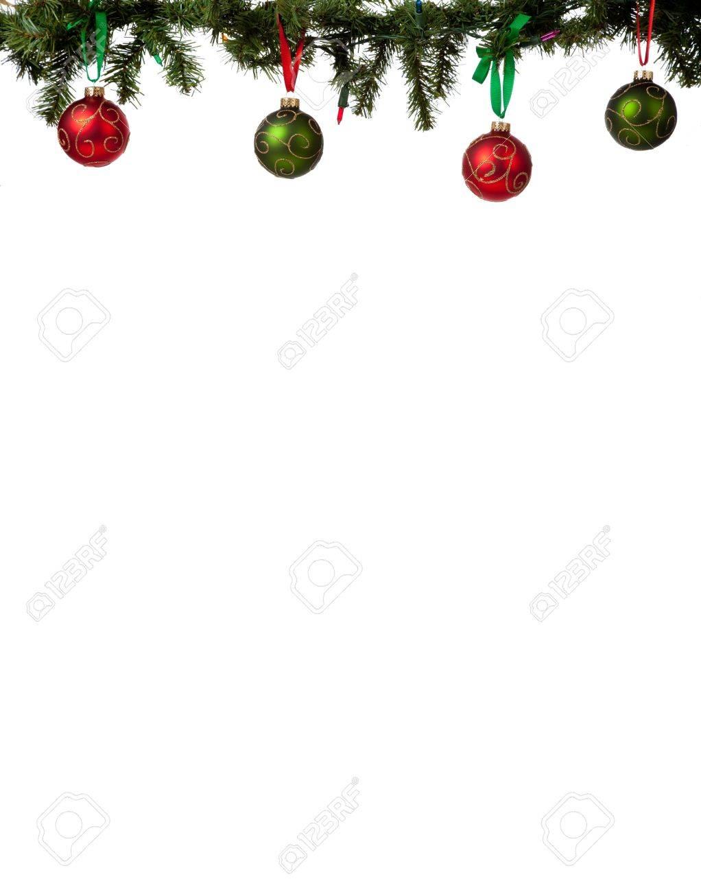Ein Christmas Ornament Rahmen Mit Roten Und Grünen Glitzerbedeckten ...