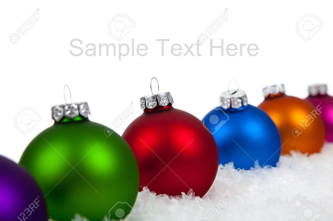 Christmas Ornaments Baubles Including Purple Green Red Blue Orange And Pink