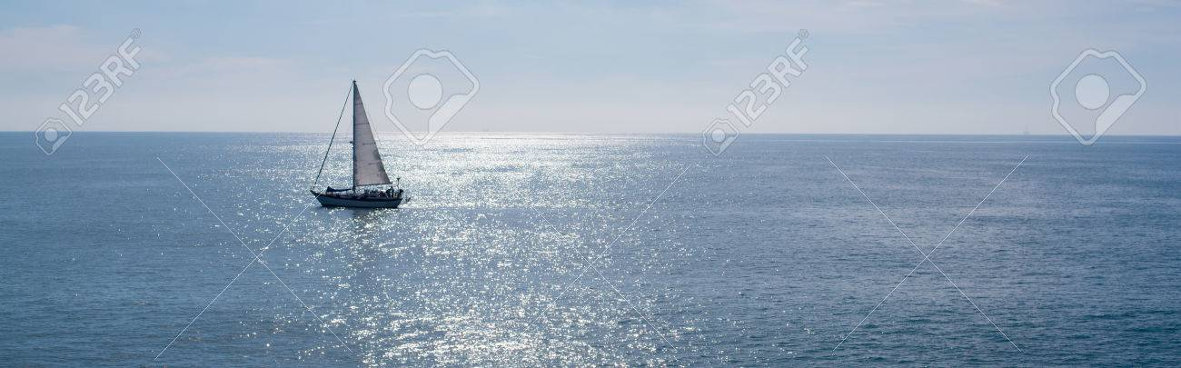A sailing boat, yacht on a beutiful sunny day - 44662661