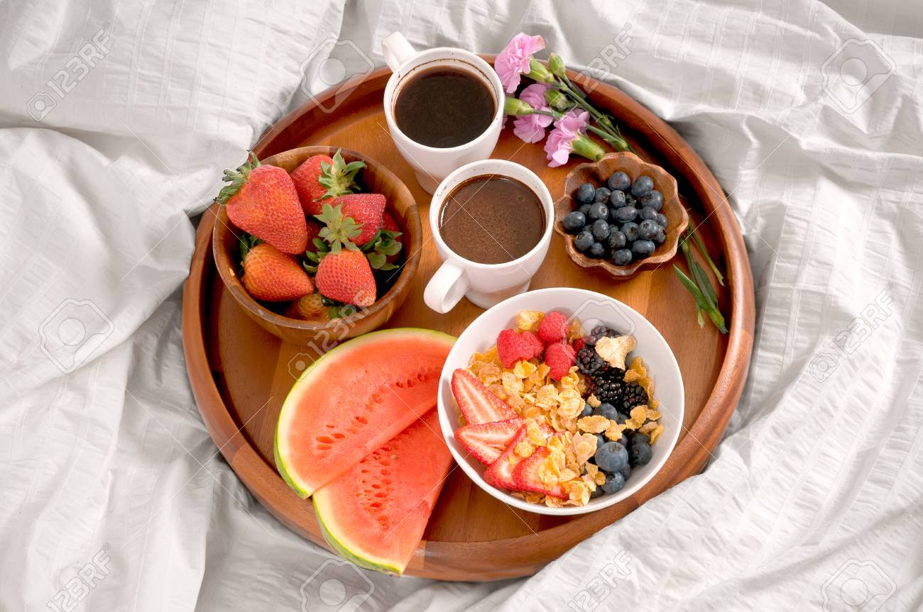 Morning And Healthy Breakfast Breakfast In Bed Stock Photo Picture And Royalty Free Image Image 79408727