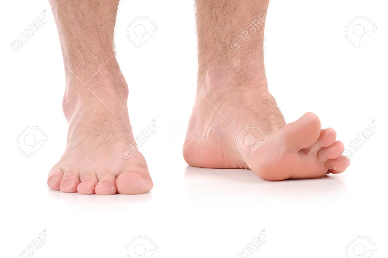 Man Feet itching  infection of the feet caused by fungus