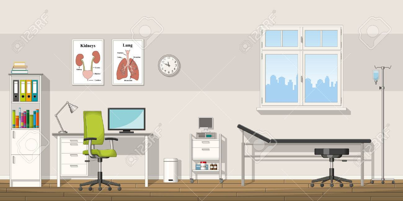 Illustration of a doctor office - 60556458