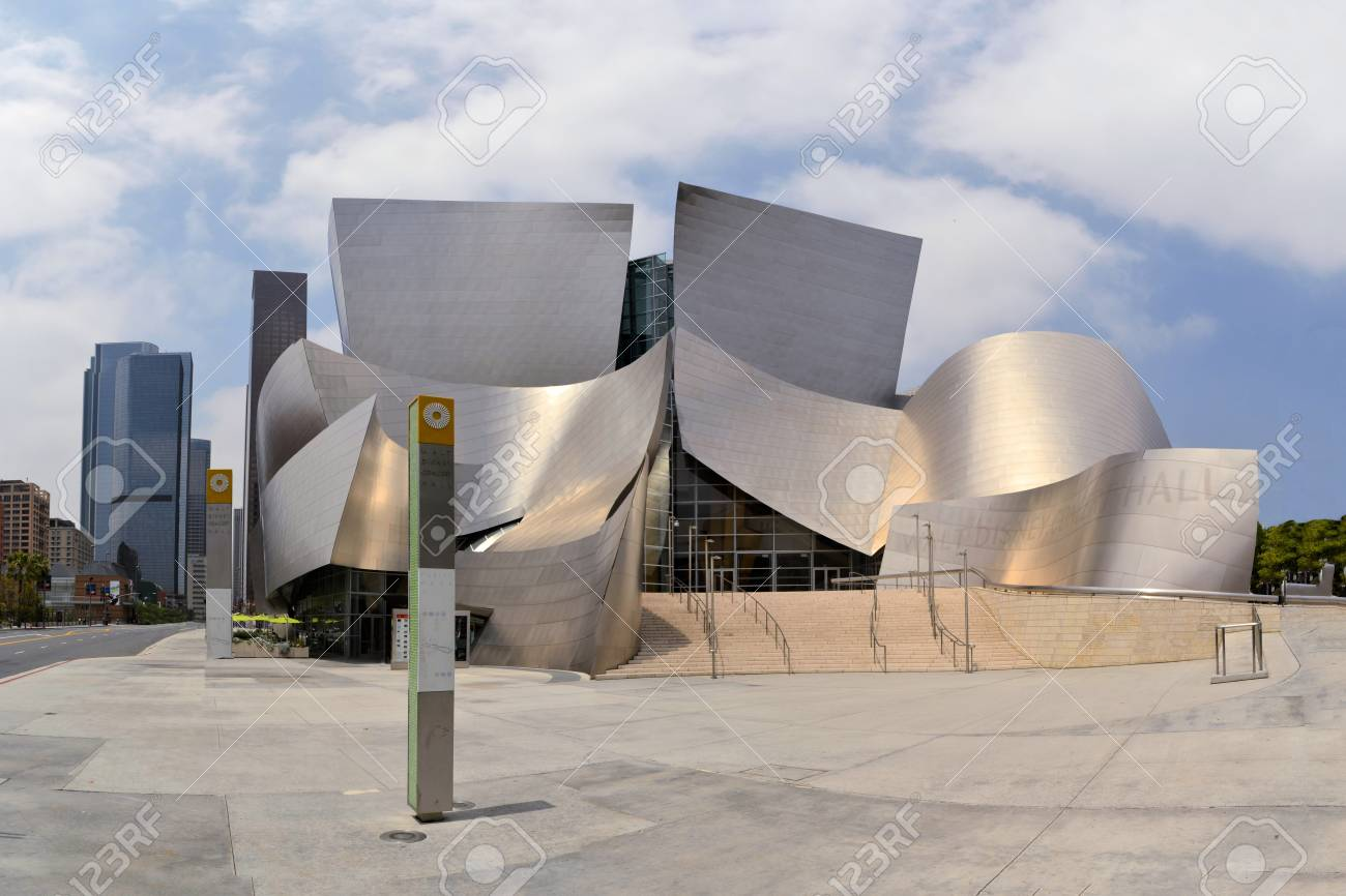 Modern Architecture Los Angeles modern architecture of walt disney concert hall, downtown los..