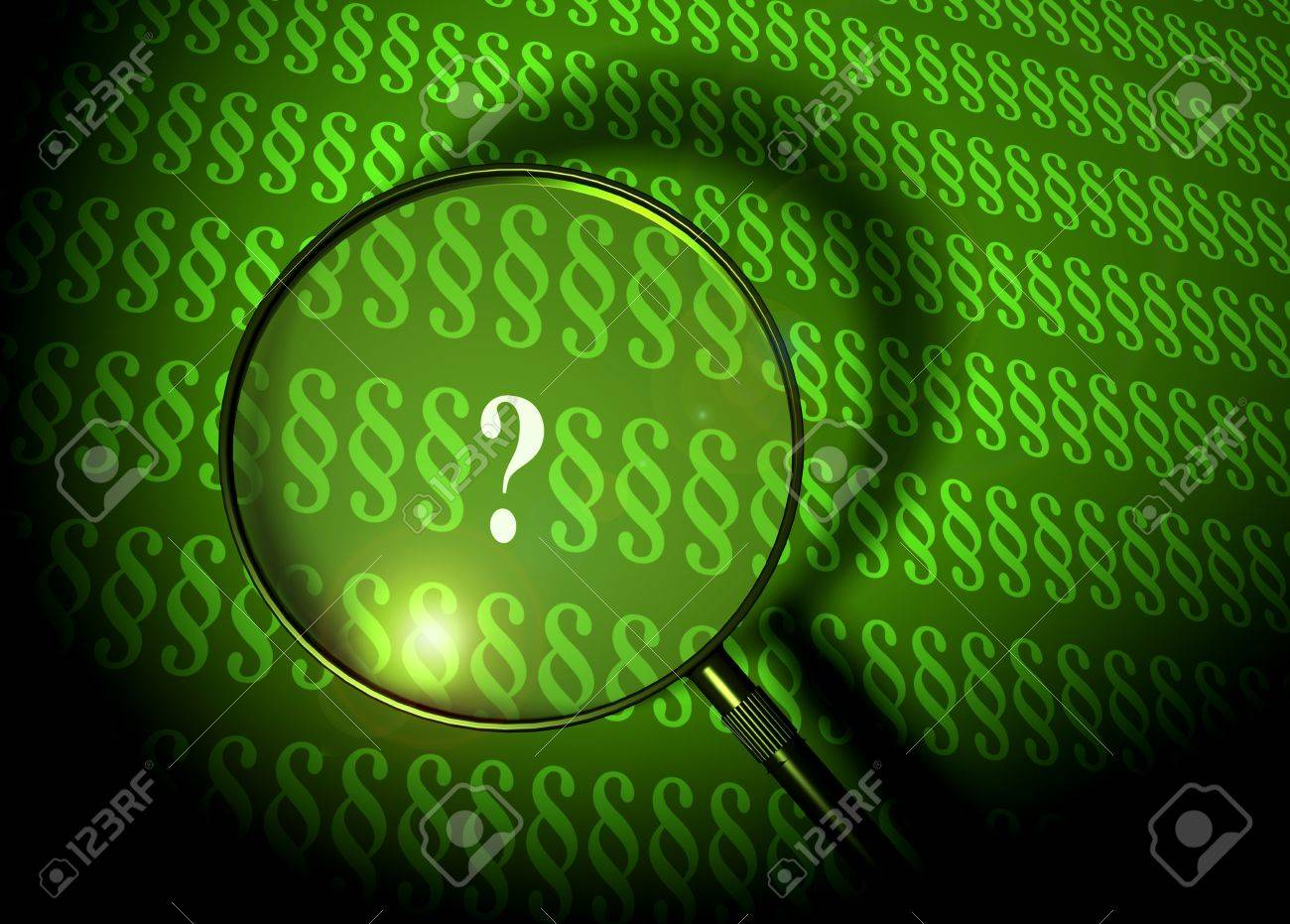 question mark between paragraphs Stock Photo - 3626332
