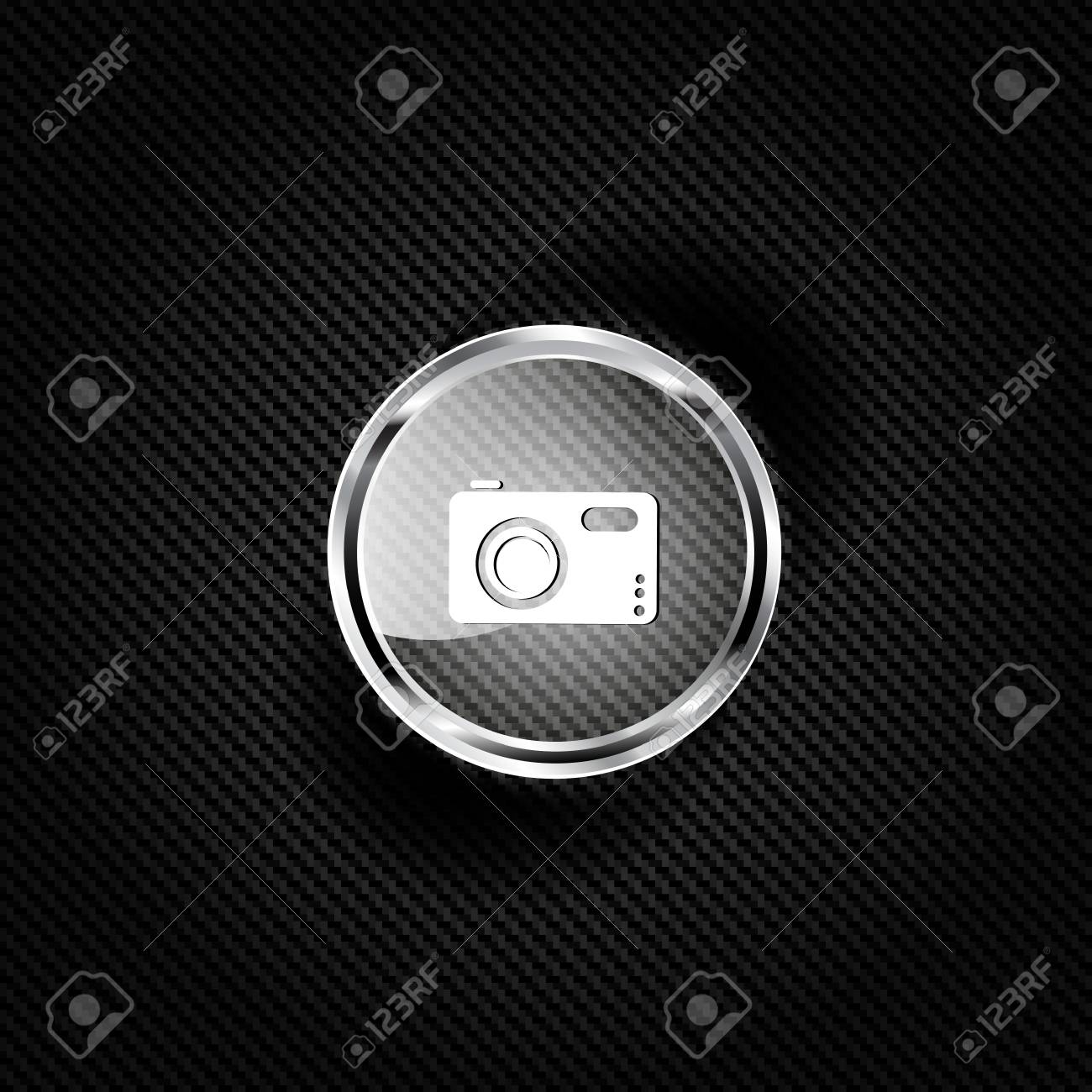 Photo camera web icon Stock Vector - 23067160