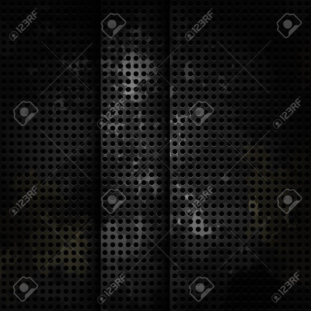 Old metal background with carbon texture Stock Vector - 23067406