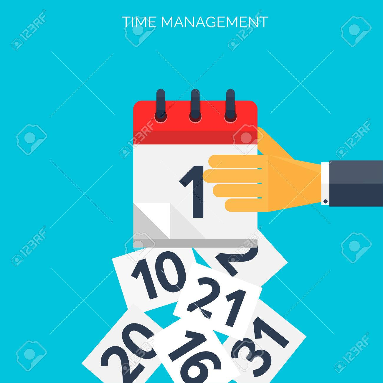Flat calendar icon. Date and time background. Time management concept. - 38066946