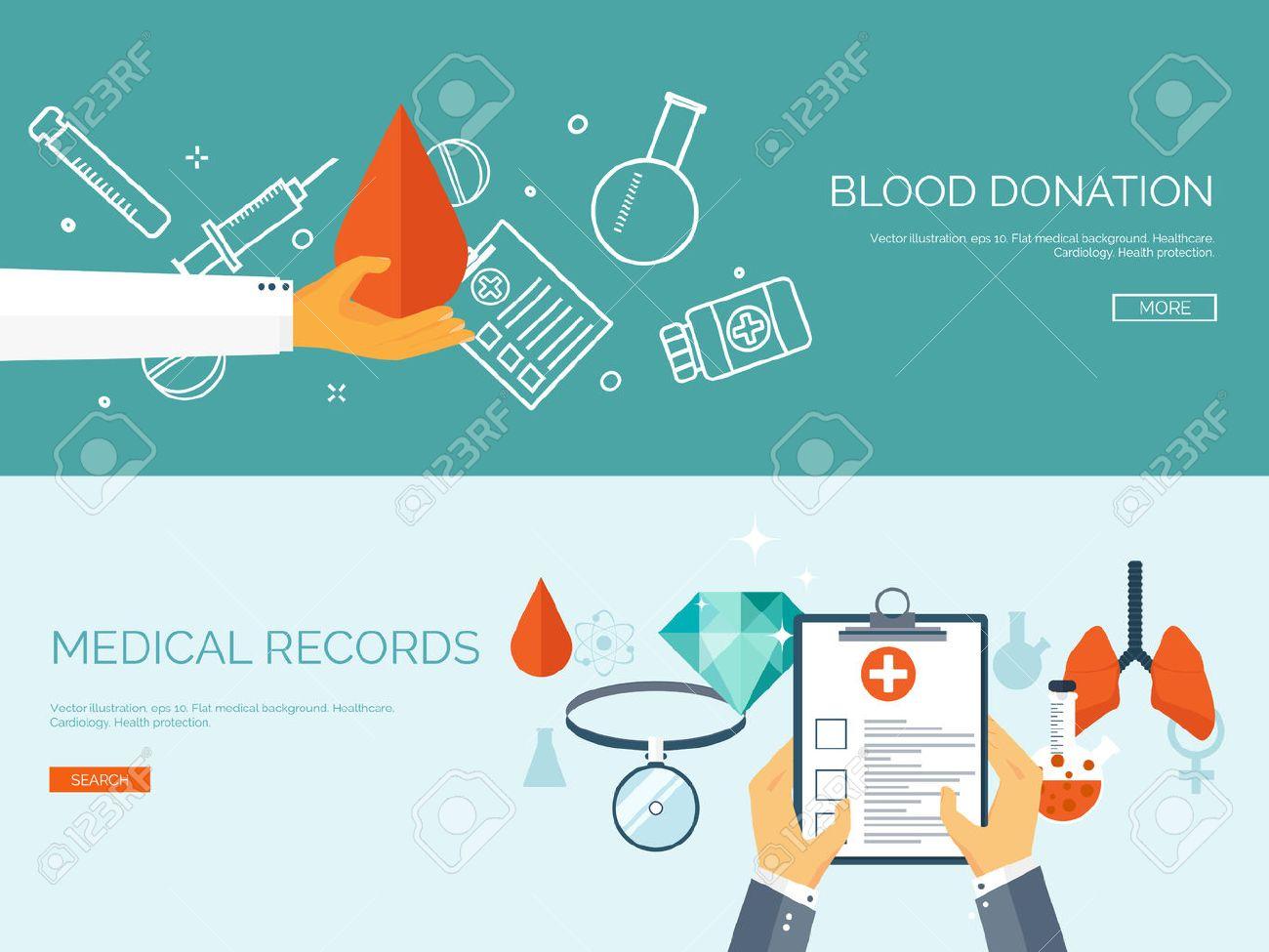 Vector Illustration. Flat Header. Medical Background. First Aid ...
