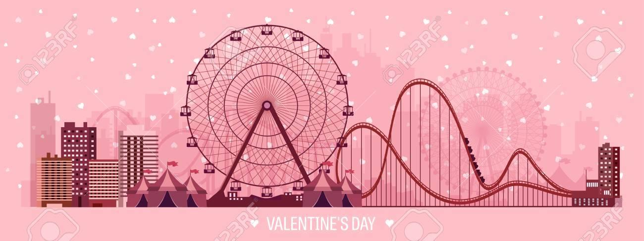 Ilustración Del Vector. Día De San Valentín. Amor. 14 De Febrero ...