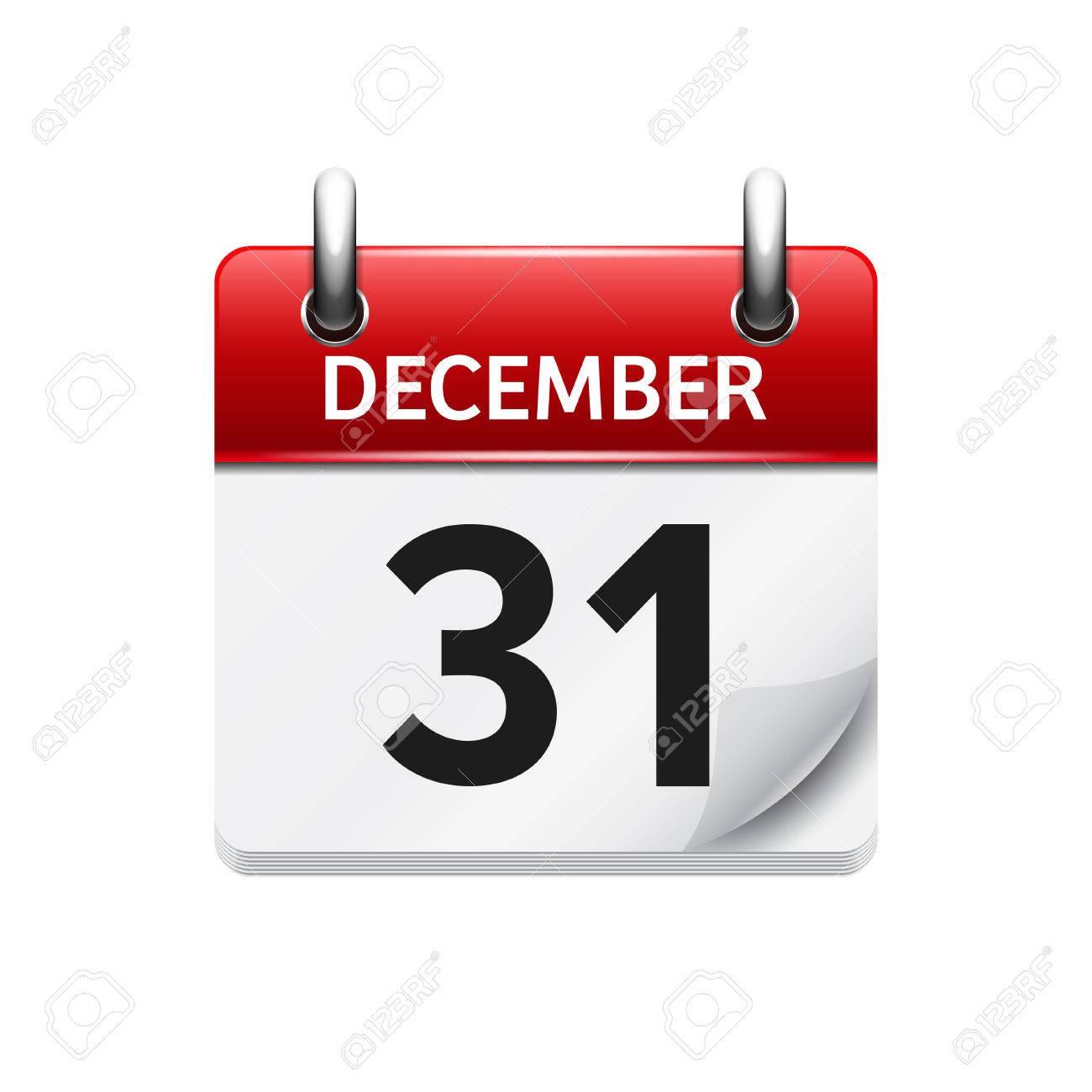 Calendario Diario.31 De Diciembre De Vectores Plana Icono De Calendario Diario Fecha Y Hora Dia Mes Fiesta