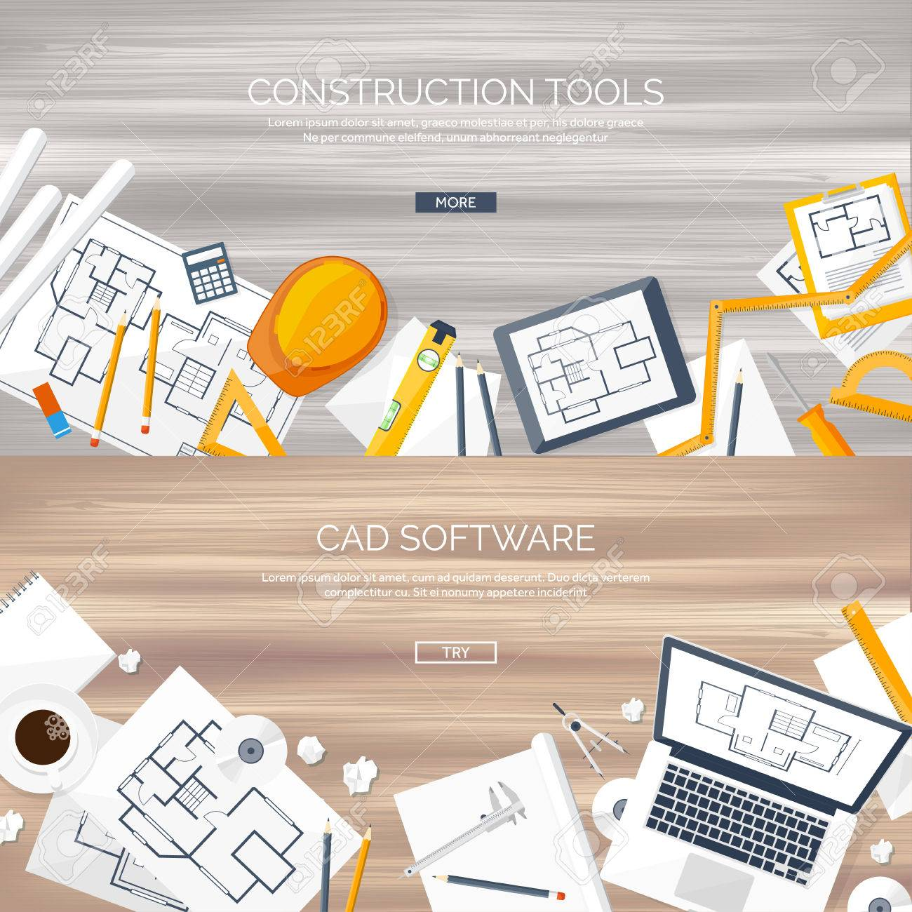 Vector Illustration. Engineering And Architecture. Notebook ...
