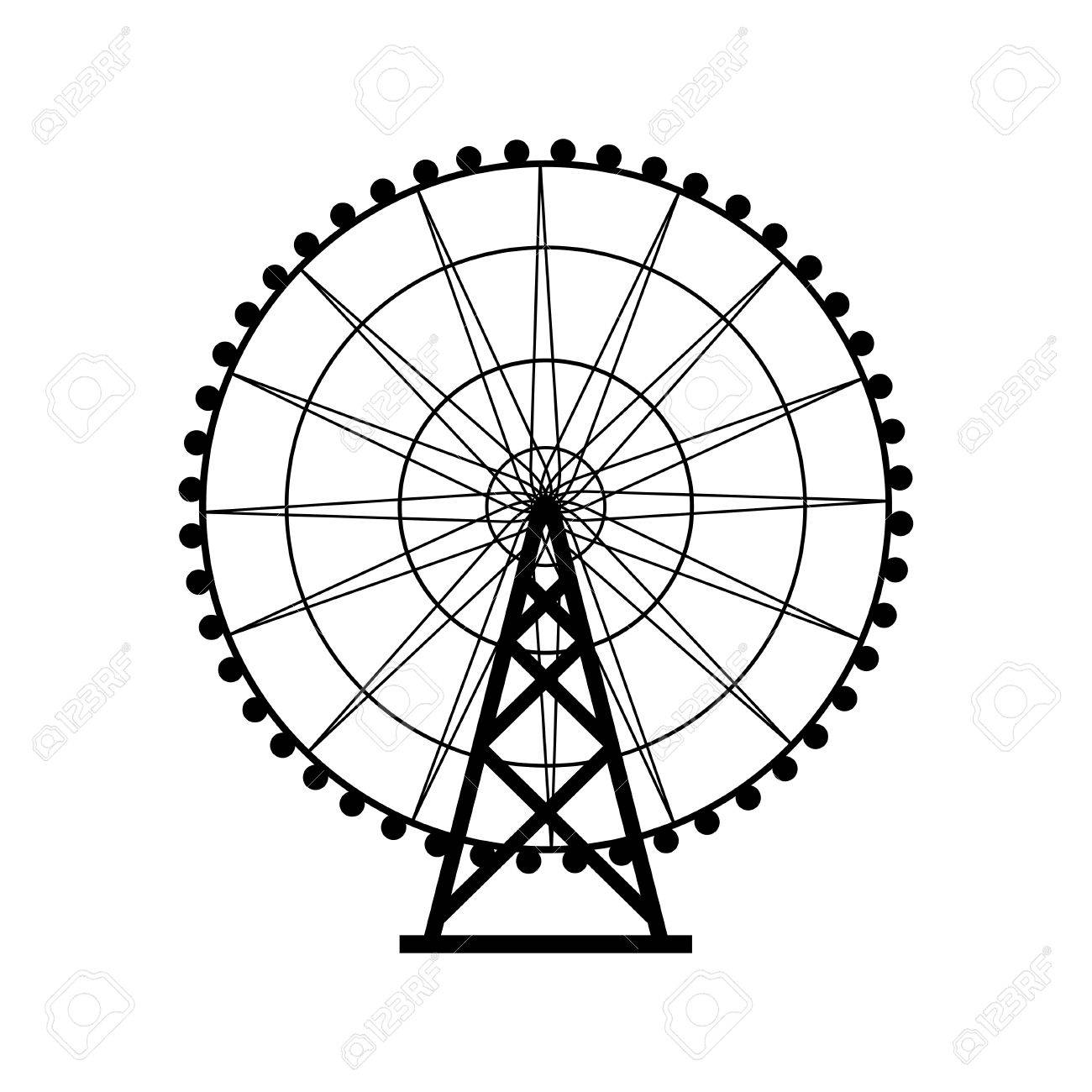 Ferris Wheel Silhouette Circle Carnival Funfair Background Carousel Royalty Free Cliparts Vectors And Stock Illustration Image 57893548