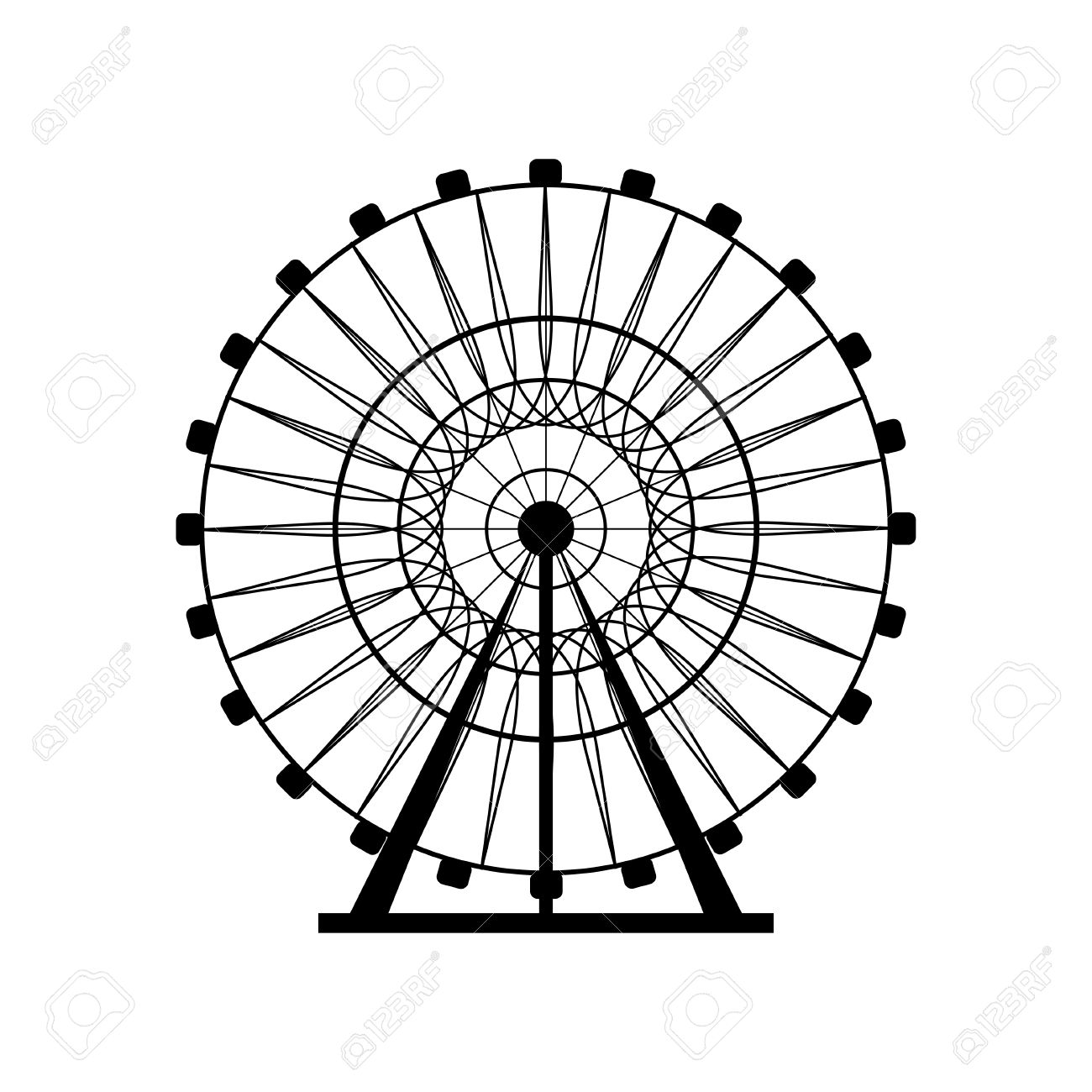 Ferris Wheel Silhouette Circle Carnival Funfair Background Carousel Royalty Free Cliparts Vectors And Stock Illustration Image 57893538