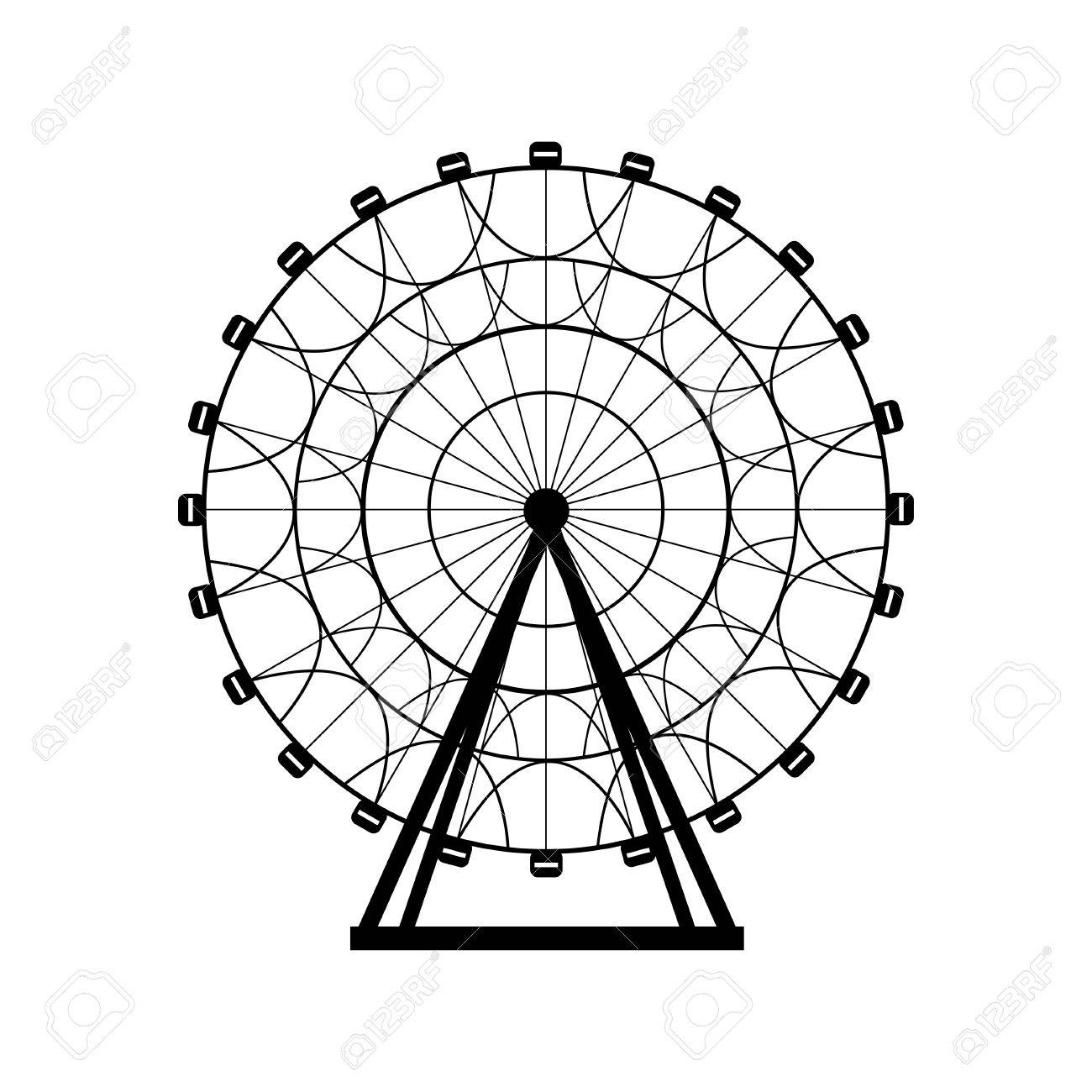 Ferris Wheel Silhouette Circle Carnival Funfair Background Carousel Royalty Free Cliparts Vectors And Stock Illustration Image 57893977