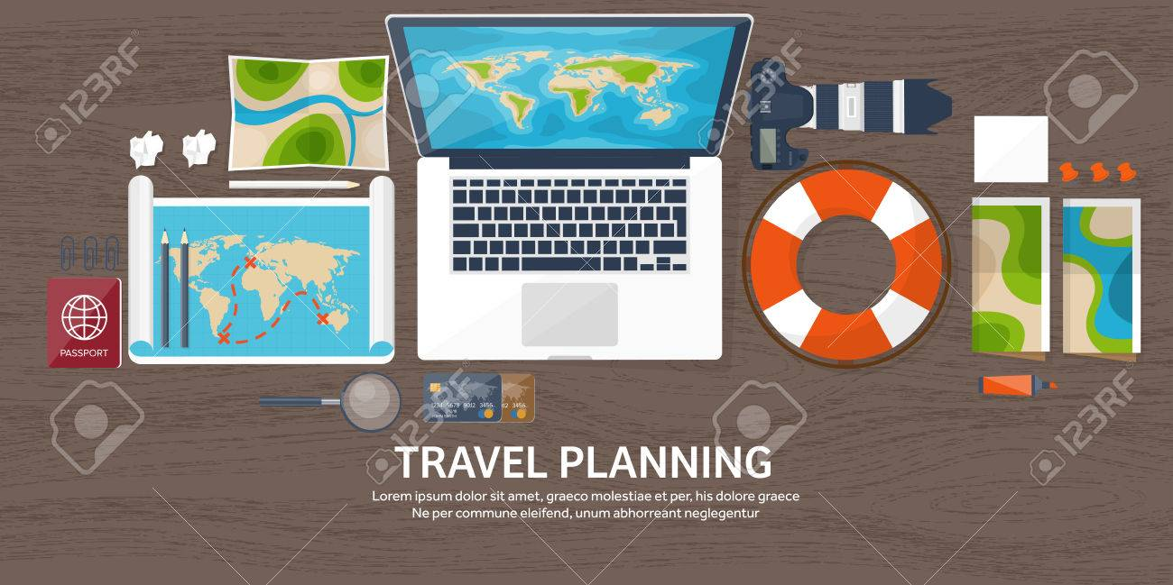 Voyage Et Tourisme Le Style Plat Mondiale Carte De La Terre Globe Vacances Visite T Voyager Explorer Dans Monde Entier
