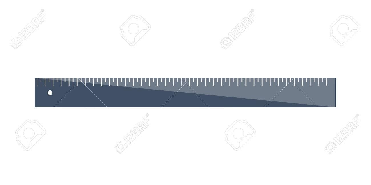 Lineal In Einem Flachen Stil. Rahmen. Breite Und Länge. Messwerkzeug ...