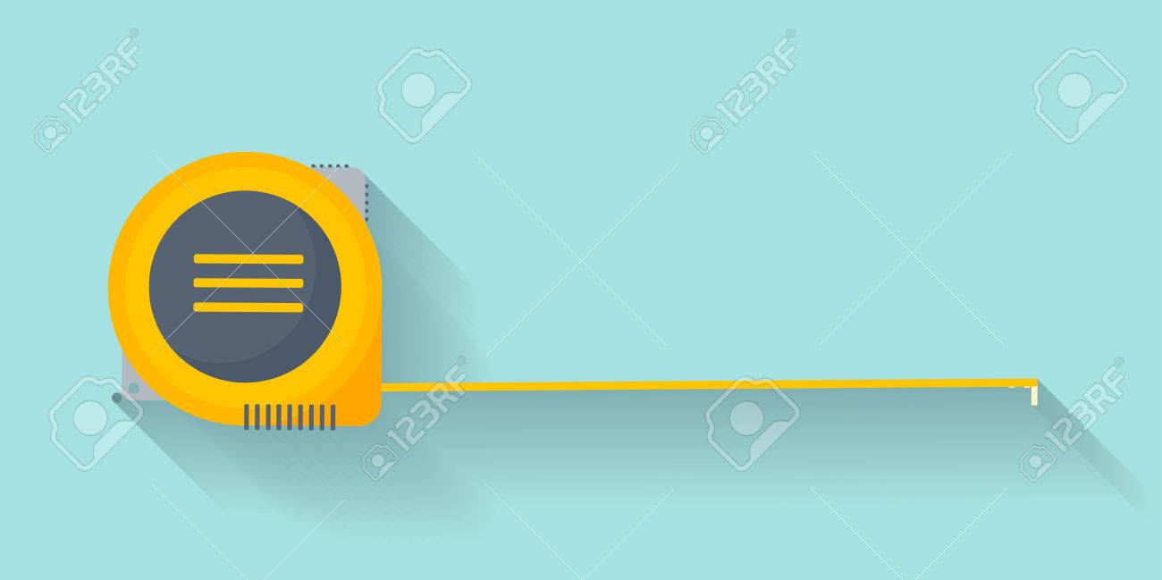 Ruler in a flat style. Scale. Width and length. Measurement tool. Vector illustration - 60147656