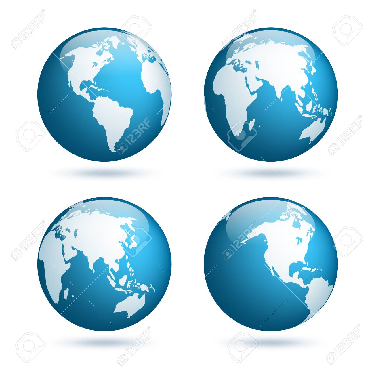 Earth globe world map set planet with continentsrica asia world map set planet with continentsrica asia australia gumiabroncs Choice Image