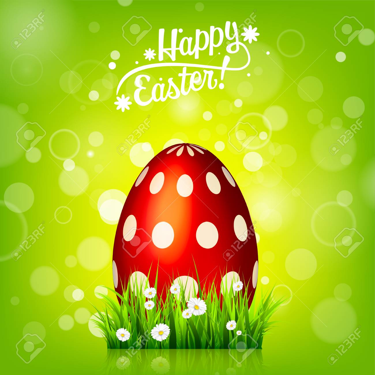 easter egg hunt green background april holidays flowers and grass abstract banner
