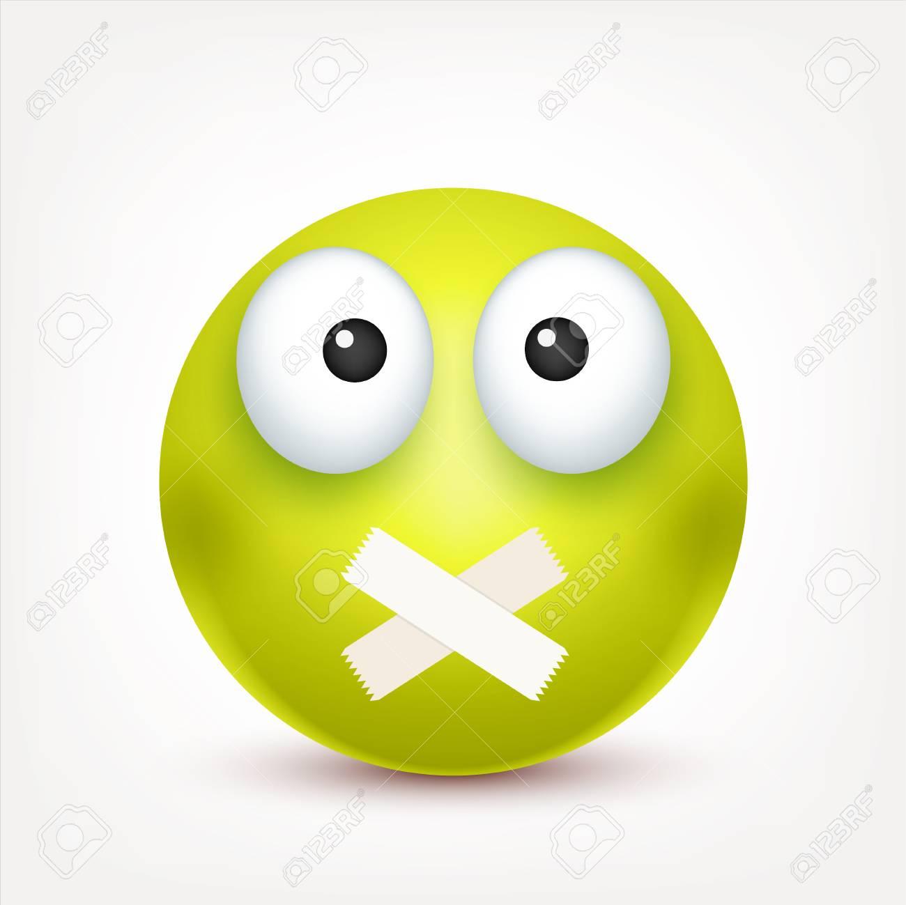 Un Smiley En Colere Triste Emoticone Visage Vert Avec Des Emotions Expression Faciale Emoji Realiste 3d Personnage Drole De Bande Dessinee Icone Web Illustration Vectorielle Clip Art Libres De Droits Vecteurs