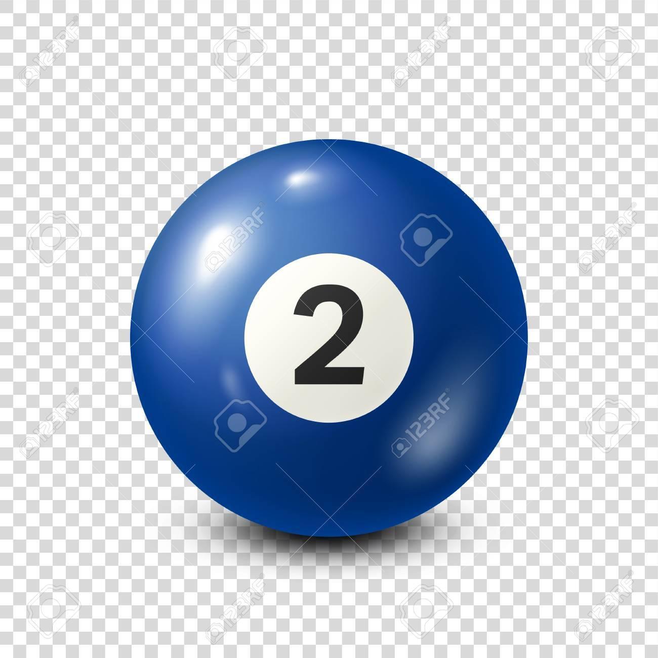 Billar Bola De Billar Azul Con El Número 2 Billar Fondo Transparente Ilustración Del Vector Ilustraciones Vectoriales Clip Art Vectorizado Libre De Derechos Image 80446023