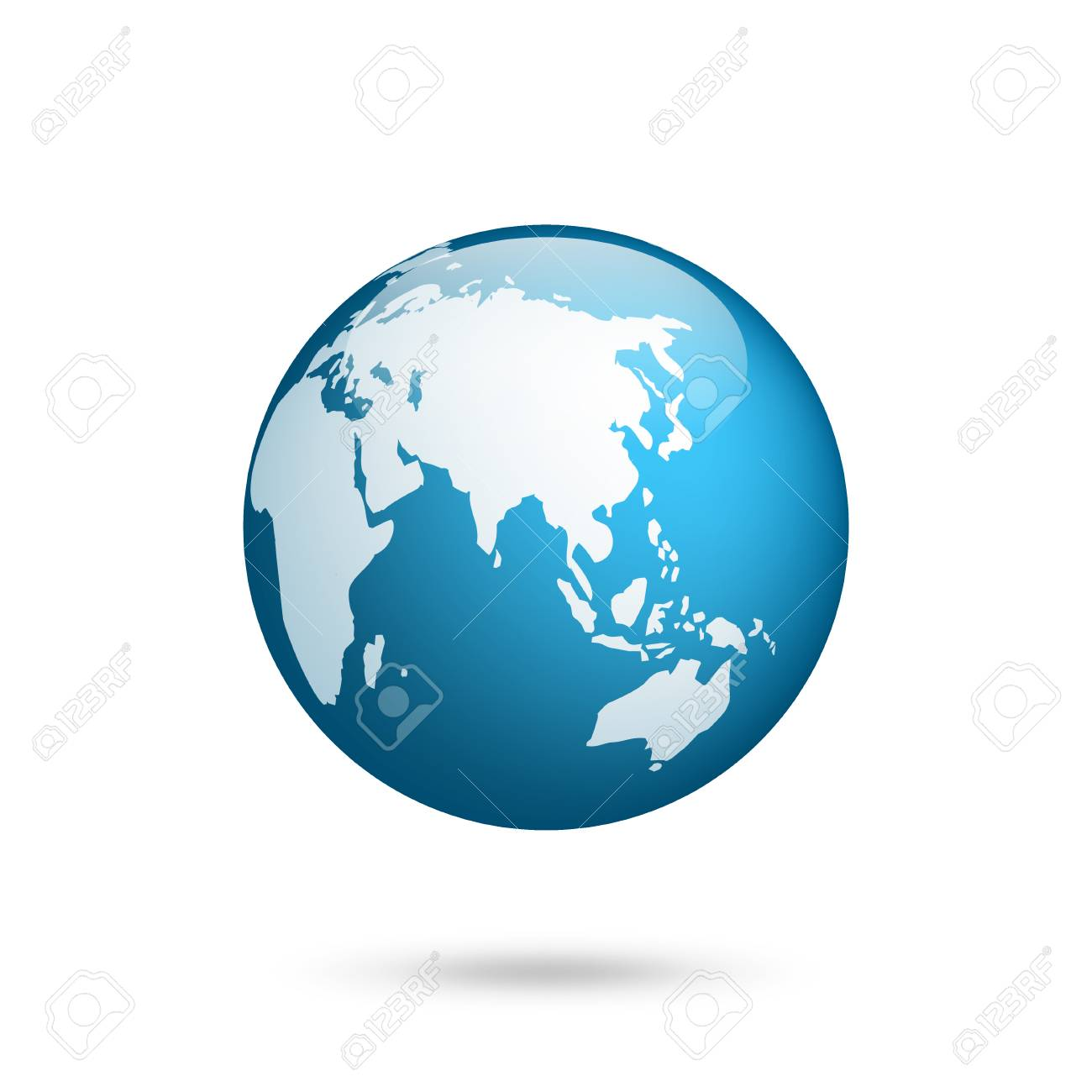 Australia Map Globe.Earth Globe World Map Set Planet With Continents Africa Asia