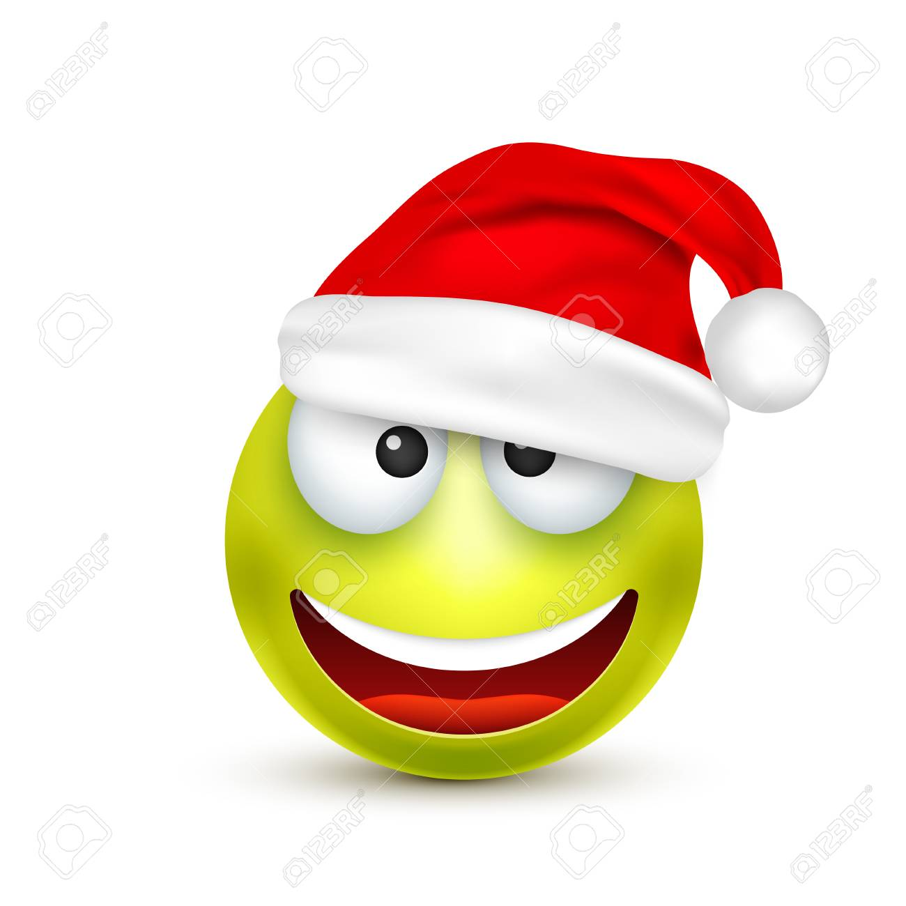 Smiley,emoticon. Green Emoji, Face With Emotions And Christmas.. Royalty  Free Cliparts, Vectors, And Stock Illustration. Image 91688084.