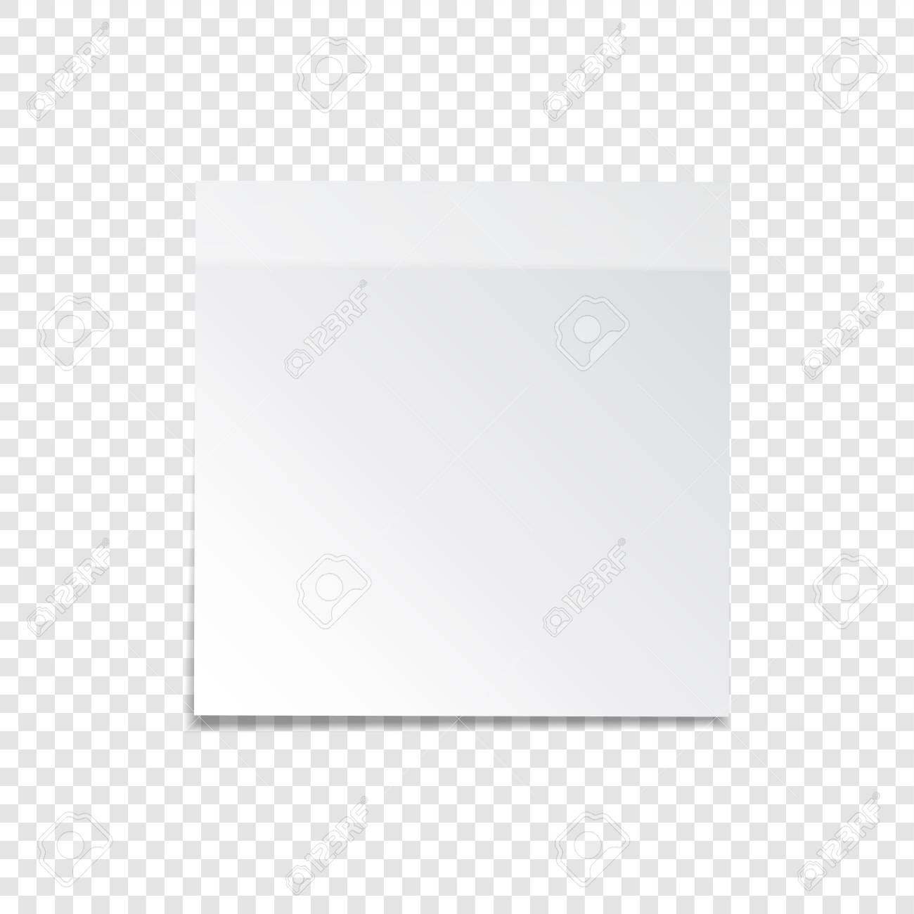 Sticky Paper Note With Tape And Shadow Isolated On Transparent