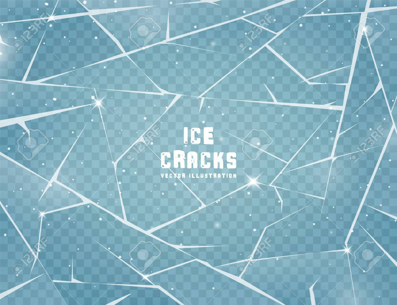 Realistic cracked ice surface. - 133557428