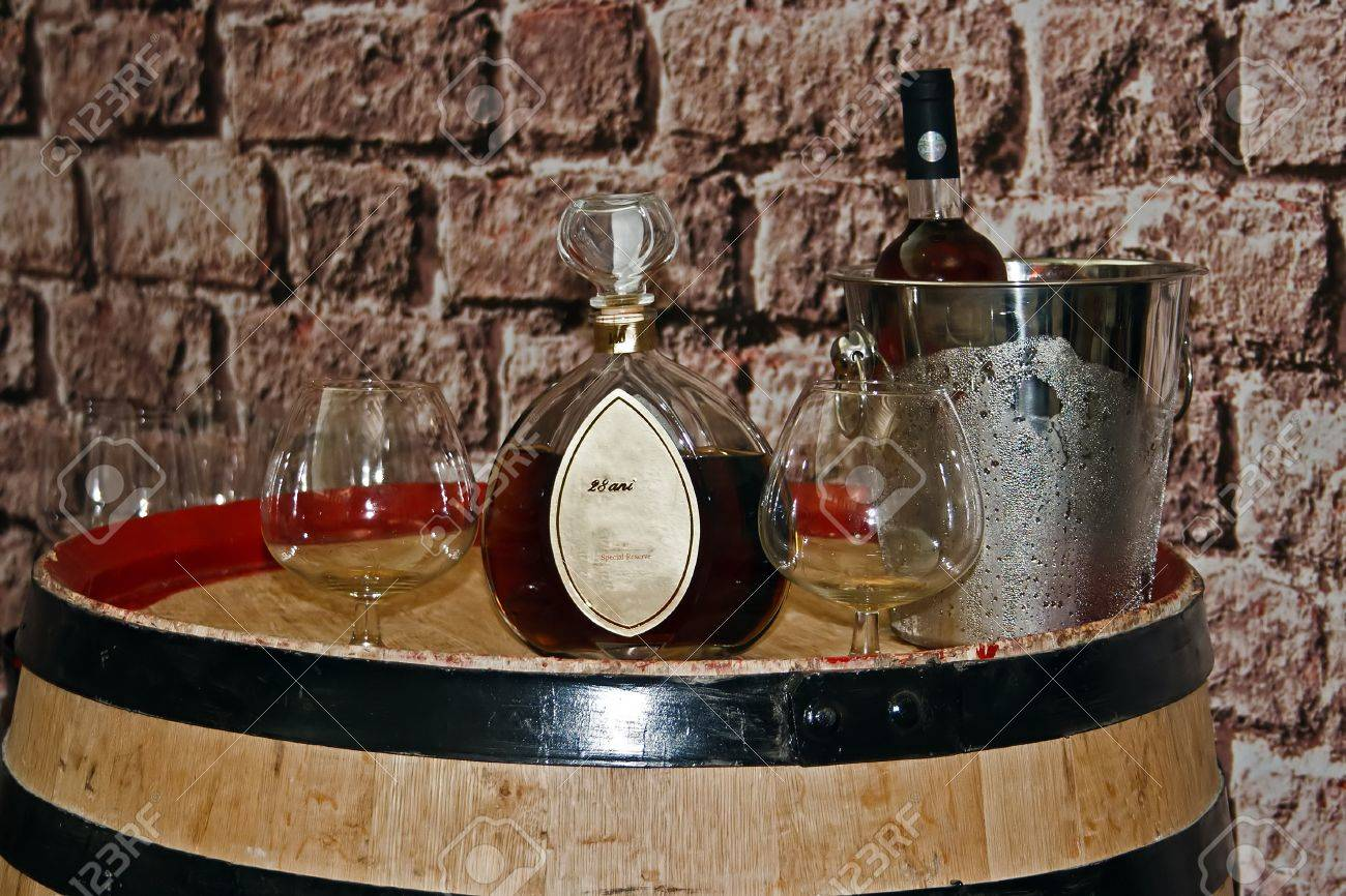 Romanian wine and brandy tasting. Show a presentation. Stock Photo - 13283297