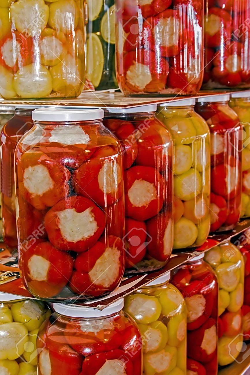 Various types of pickles prepared in jars - 14575109