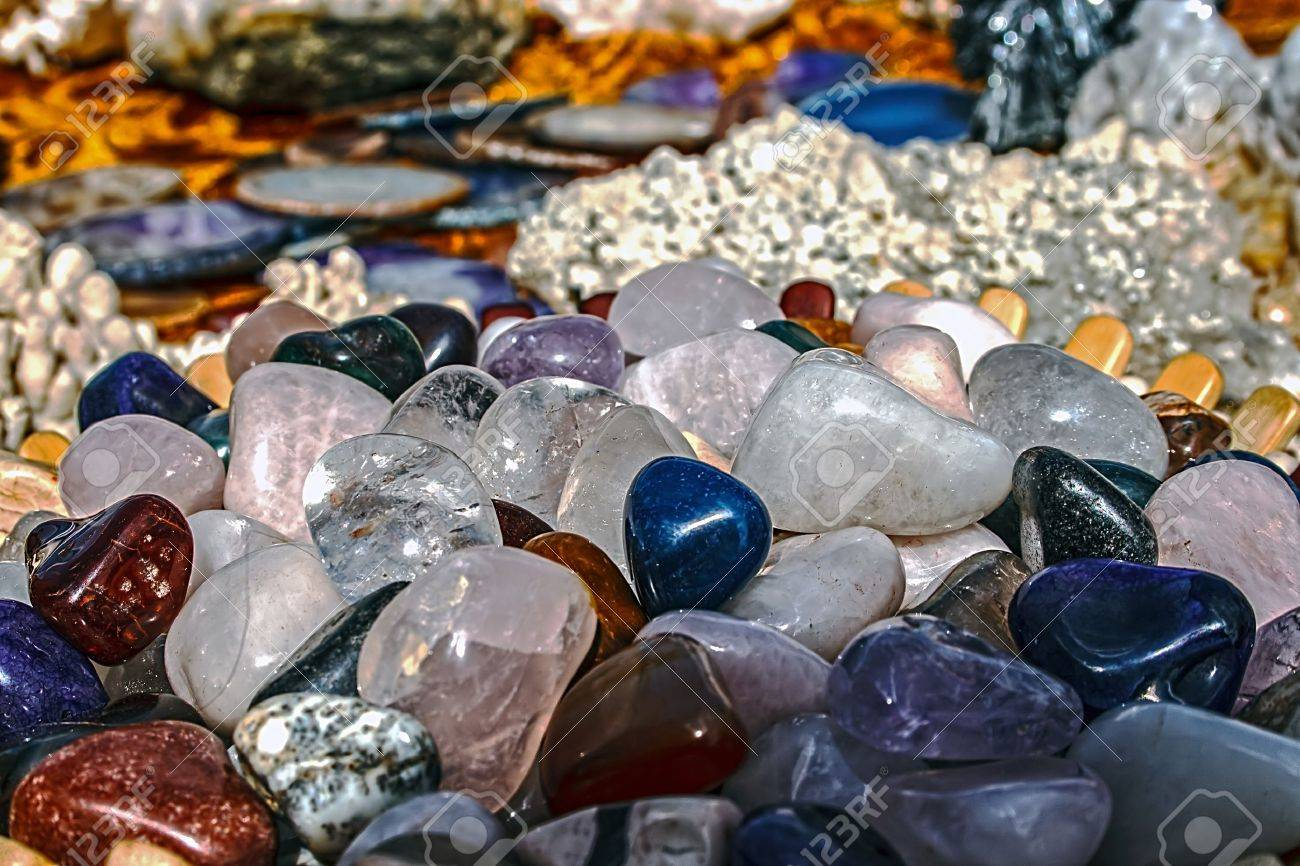 Mineral crystals and stones, with energy effect, in different structures Stock Photo - 14894291