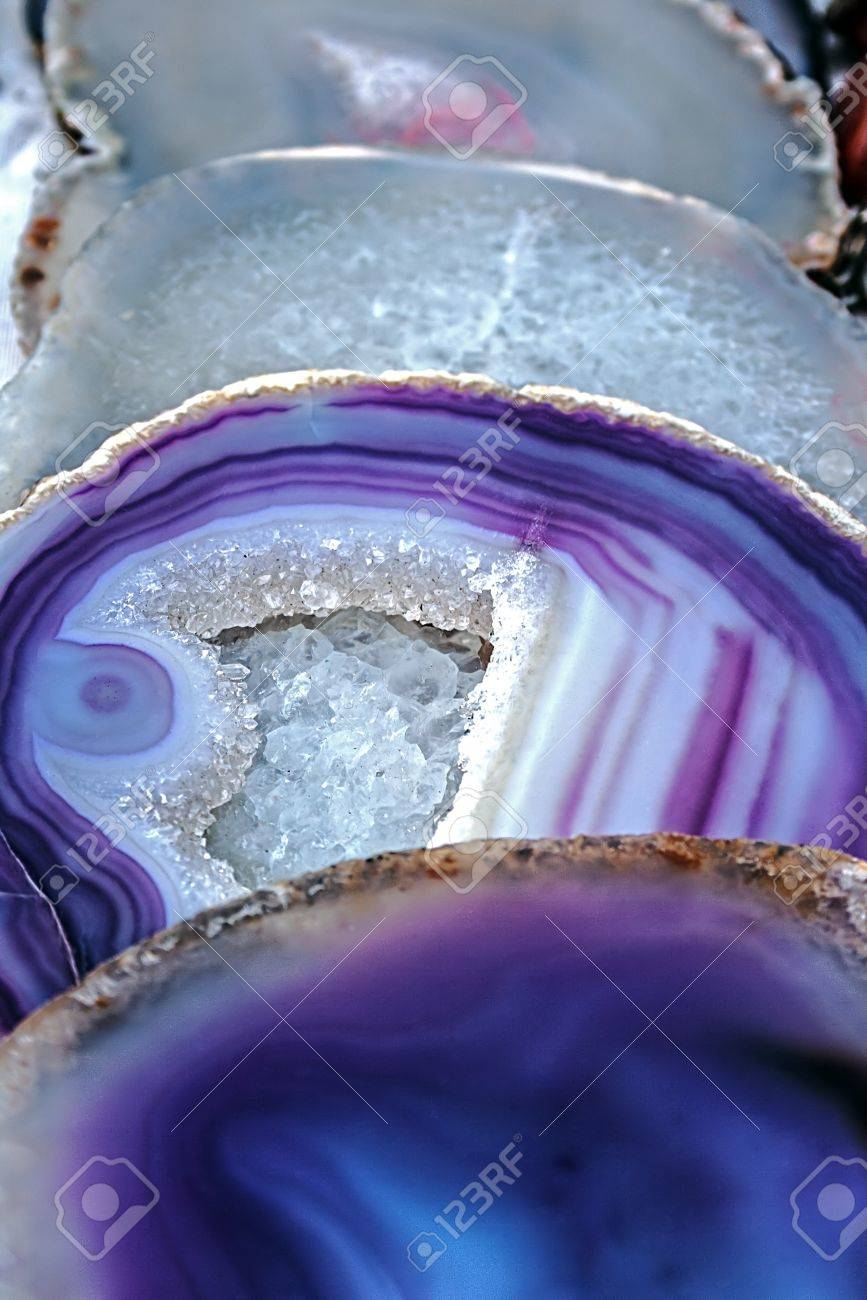 Mineral crystals and stones, with energy effect, in different structures - 17543952