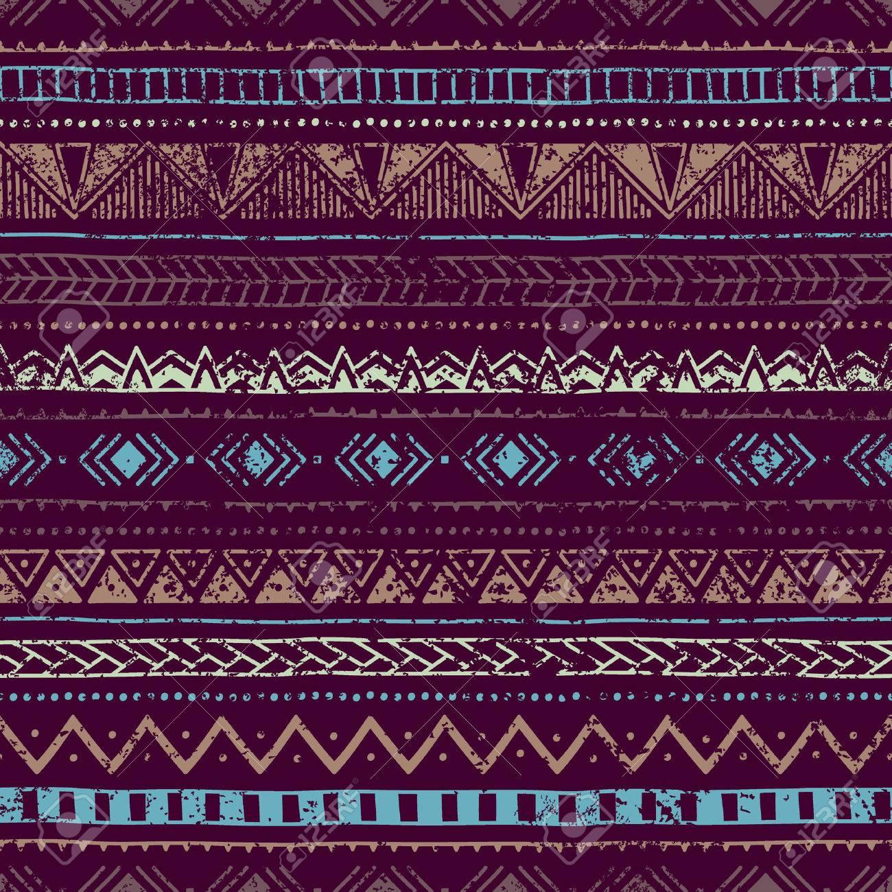 Vintage Background Ethnique Les Couleurs Bleu Et Violet