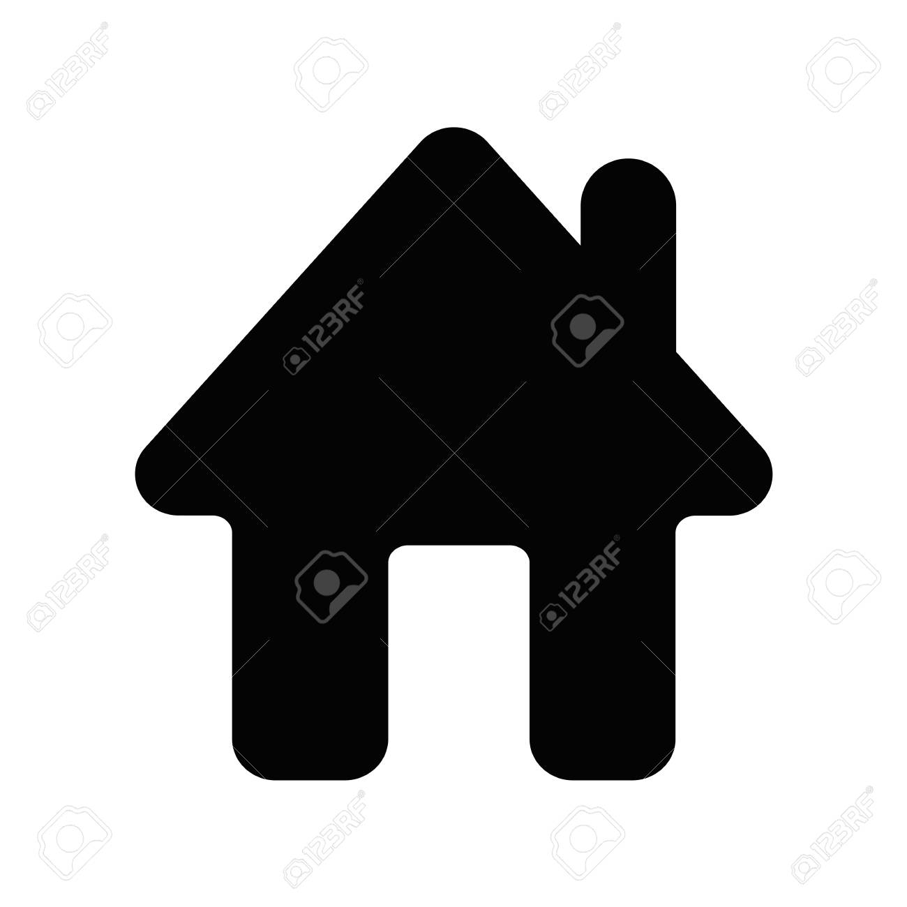 home icon house symbol vector illustration royalty free cliparts rh 123rf com home icon vector png android home icon vector