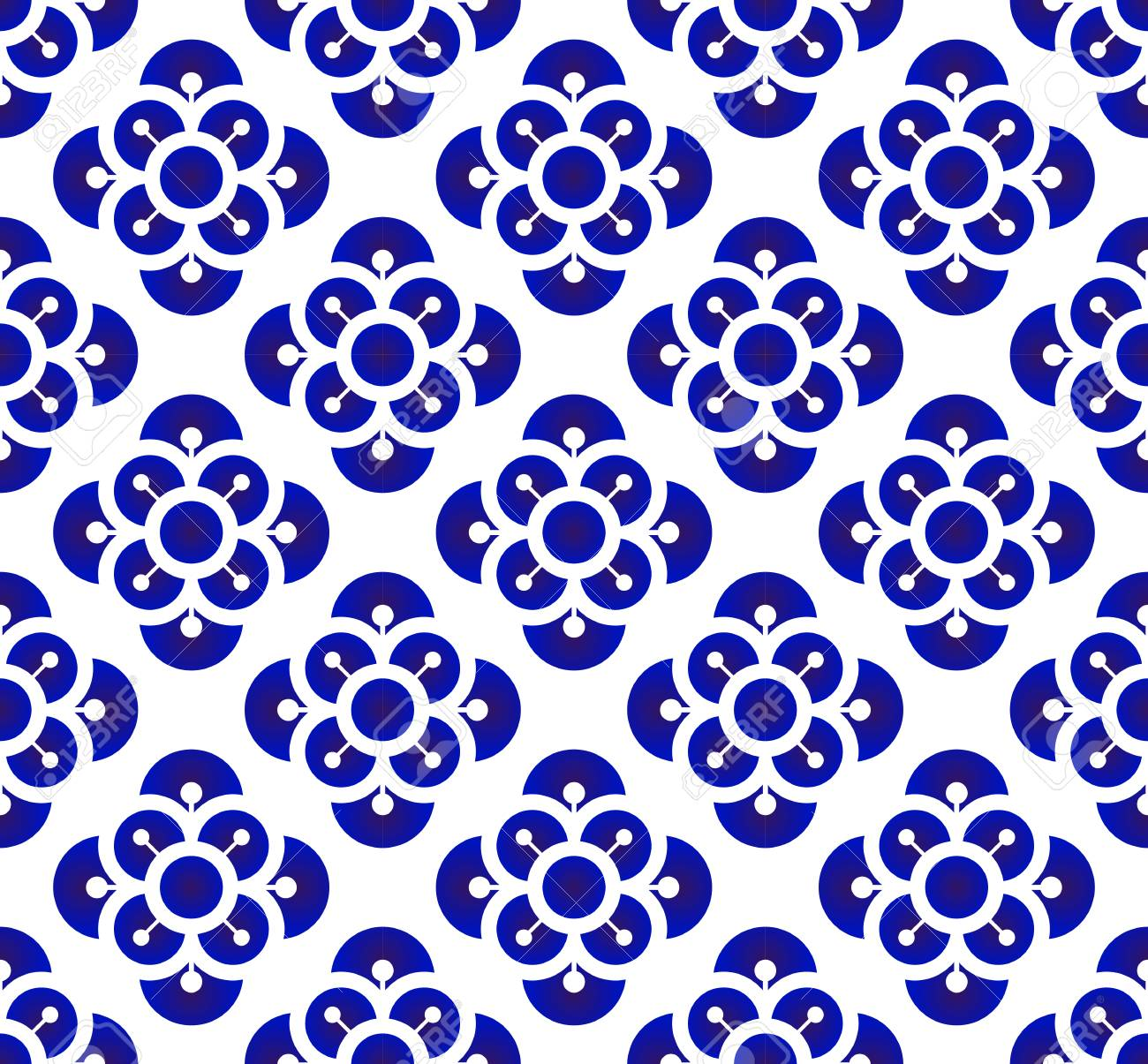 Ceramic Flower Backdrop Chinese Style Seamless Blue And White Royalty Free Cliparts Vectors And Stock Illustration Image 101012164